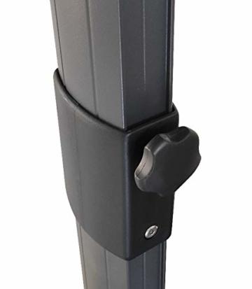 Pure Home & Garden Ampelschirm Roma 300x300 cm in anthrazit inklusive Ständer, sowohl axial als auch am Mast verstellbar, UV-Schutz 50 Plus - 2