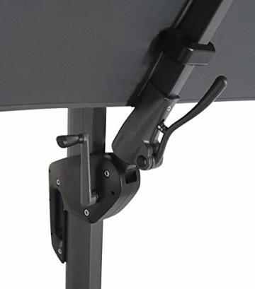 Pure Home & Garden Ampelschirm Roma 300x300 cm in anthrazit inklusive Ständer, sowohl axial als auch am Mast verstellbar, UV-Schutz 50 Plus - 4
