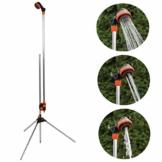 rg-vertrieb Gartendusche Gartenbrause mit Stativ Alu 150-210cm Pooldusche Campingdusche - 1