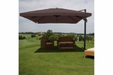 Schirm Sonnenschirm braun Alu 4,3m Gastro Ampelschirm Marktschirm - 1