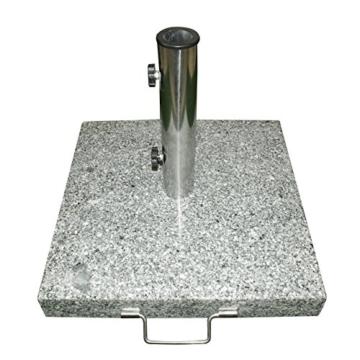 Schirmständer 25kg Granit/Edelstahl, Sonnenschirmständer - 1