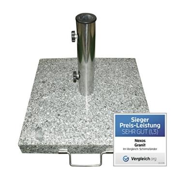 Schirmständer 25kg Granit/Edelstahl, Sonnenschirmständer - 4