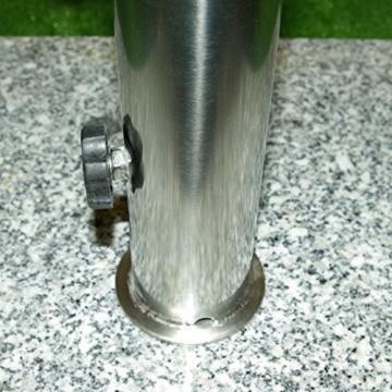 Schirmständer 25kg Granit/Edelstahl, Sonnenschirmständer - 6