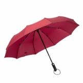 SDENSHI Reiseschirm: Winddicht und wasserabweisend mit schimmelresistentem Stoff, automatischer Open-Close-Regenschirm - rot - 1
