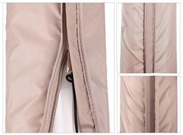 Sekey® Schutzhülle für Ampelschirm/Sonnenschirm,Abdeckhauben für Sonnenschirm, 100% Polyester, Taupe - 3