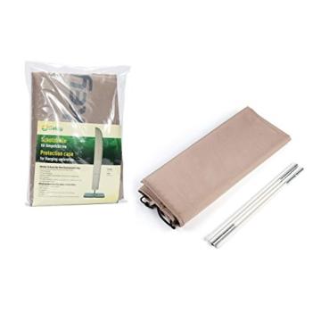 Sekey® Schutzhülle für Ampelschirm/Sonnenschirm,Abdeckhauben für Sonnenschirm, 100% Polyester, Taupe - 5