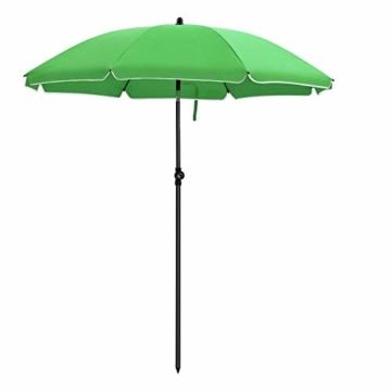 SONGMICS Sonnenschirm, Ø 160 cm, Marktschirm, UV Schutz UPF 50+, Sonnenschutz, achteckiger Gartenschirm aus Polyester, Schirmrippen aus Glasfaser, mit Tragetasche, Grün GPU60GN - 1