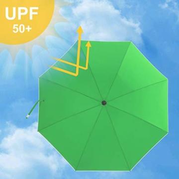 SONGMICS Sonnenschirm, Ø 160 cm, Marktschirm, UV Schutz UPF 50+, Sonnenschutz, achteckiger Gartenschirm aus Polyester, Schirmrippen aus Glasfaser, mit Tragetasche, Grün GPU60GN - 5