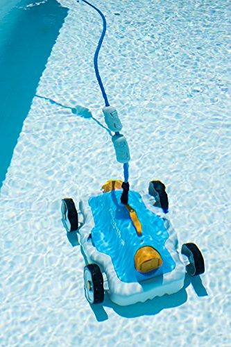 Steinbach Poolrunner S63, für Pools bis 25 m² Grundfläche, vollautomatisch, 9m Kabellänge, 230 V Anschluss, 12 m³/h, blau, 061007 - 5