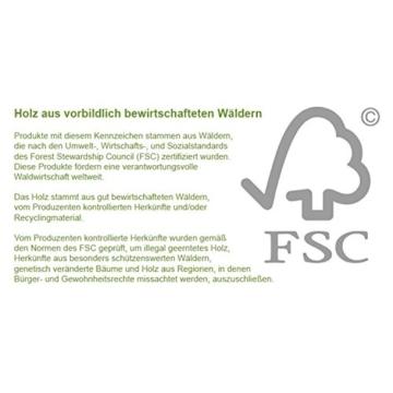 STILISTA® Gartendusche Cascata aus 100% FSC zertifiziertem Shorea-Hartholz, geölt inkl. Handbrause - 8