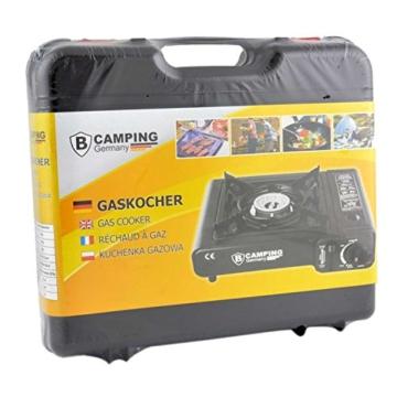 StyleKiste Gaskocher mit 8 Gaskartuschen Campingkocher 1-flammig max. Leistung 2,5 KW - 3