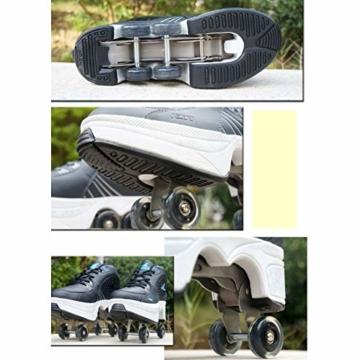 Tengda Rollschuhe Verstellbar Kinder Inline-Skate, 2-in-1-mehrzweckschuhe, Verstellbare Quad-rollschuh-Stiefel,H-35 - 5