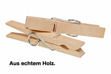 TK Gruppe Timo Klingler 100x Miniklammern - Größe 25 mm Mini Klammer Wäscheklammern Holzklammer aus echten Holz (100x) - 2