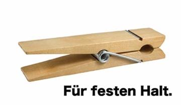 TK Gruppe Timo Klingler 100x Miniklammern - Größe 25 mm Mini Klammer Wäscheklammern Holzklammer aus echten Holz (100x) - 4