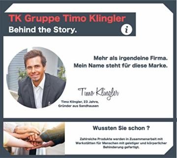 TK Gruppe Timo Klingler 100x Miniklammern - Größe 25 mm Mini Klammer Wäscheklammern Holzklammer aus echten Holz (100x) - 7
