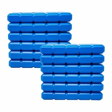 ToCi 4er Set Kühlakku mit je 200 ml | 4 Blaue Kühlelemente für die Kühltasche oder Kühlbox - 3