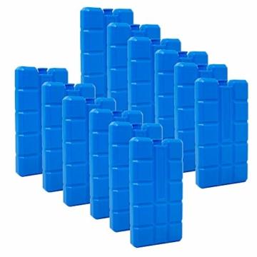 ToCi 4er Set Kühlakku mit je 200 ml | 4 Blaue Kühlelemente für die Kühltasche oder Kühlbox - 1
