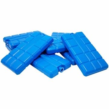 ToCi 4er Set Kühlakku mit je 200 ml | 4 Blaue Kühlelemente für die Kühltasche oder Kühlbox - 5