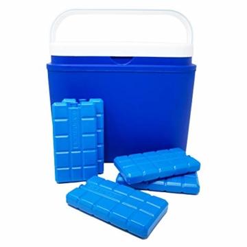 ToCi 4er Set Kühlakku mit je 200 ml | 4 Blaue Kühlelemente für die Kühltasche oder Kühlbox - 6
