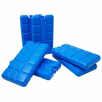 ToCi 4er Set Kühlakku mit je 200 ml | 4 Blaue Kühlelemente für die Kühltasche oder Kühlbox - 7