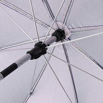 Toygogo Winddicht Sonnenschirm Strandschirm Wasserdicht Regenschirm mit Regenschirmklemme - Lila, wie beschrieben - 2