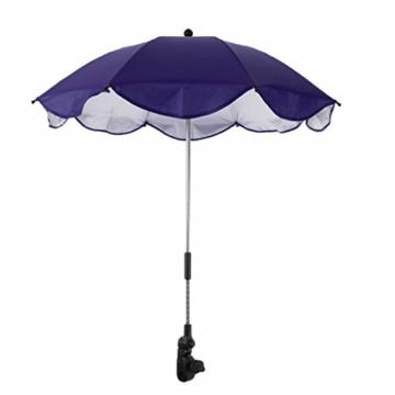 Toygogo Winddicht Sonnenschirm Strandschirm Wasserdicht Regenschirm mit Regenschirmklemme - Lila, wie beschrieben - 3