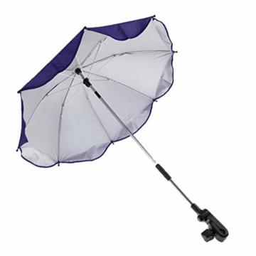 Toygogo Winddicht Sonnenschirm Strandschirm Wasserdicht Regenschirm mit Regenschirmklemme - Lila, wie beschrieben - 4