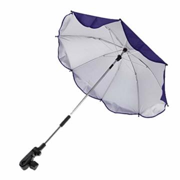 Toygogo Winddicht Sonnenschirm Strandschirm Wasserdicht Regenschirm mit Regenschirmklemme - Lila, wie beschrieben - 1