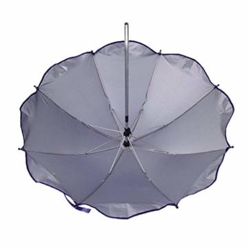 Toygogo Winddicht Sonnenschirm Strandschirm Wasserdicht Regenschirm mit Regenschirmklemme - Lila, wie beschrieben - 5