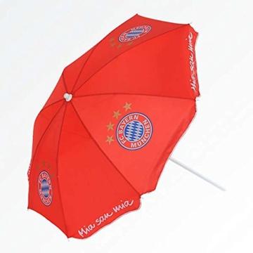 Unbekannt FC Bayern Strandschirm Sonnenschirm für den Strand mit Logo Mia san mia, Durchmesser ca. 125 cm,100% Polyester - 1