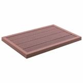 vidaXL Bodenelement für Solardusche rutschfeste Oberfläche Unterseite Bodenplatte Pool Gartendusche Aussendusche Pooldusche Braun 101x63x5,5cm WPC - 1