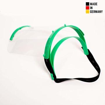 Visier Gesichtsschutz aus Kunststoff - Face Shield - Schutzschild für das Gesicht - Made in Germany - 4