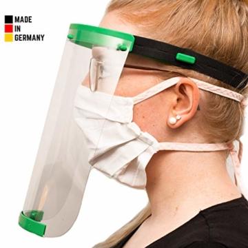 Visier Gesichtsschutz aus Kunststoff - Face Shield - Schutzschild für das Gesicht - Made in Germany - 1