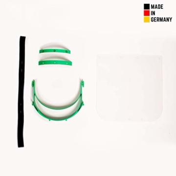 Visier Gesichtsschutz aus Kunststoff - Face Shield - Schutzschild für das Gesicht - Made in Germany - 7