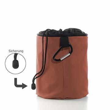 Xenoria Premium Wäscheklammern Beutel für bis zu 250 Klammern | mit Haken zum aufhängen | aus stapazierfähigem Stoff Indoor und Outdoor geeignet. (Living Coral) - 2