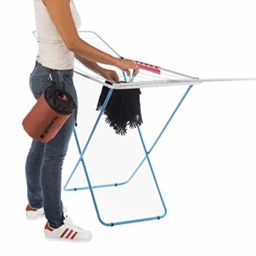 Xenoria Premium Wäscheklammern Beutel für bis zu 250 Klammern | mit Haken zum aufhängen | aus stapazierfähigem Stoff Indoor und Outdoor geeignet. (Living Coral) - 4
