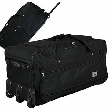 XXXL Trolleytasche 182L mit 3 Rollen schwarz Koffer Reisetasche Trolley - 1