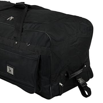XXXL Trolleytasche 182L mit 3 Rollen schwarz Koffer Reisetasche Trolley - 2