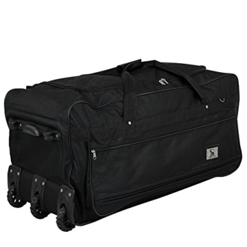 XXXL Trolleytasche 182L mit 3 Rollen schwarz Koffer Reisetasche Trolley - 3