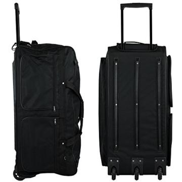 XXXL Trolleytasche 182L mit 3 Rollen schwarz Koffer Reisetasche Trolley - 4