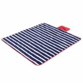 Yello Fleece faltbar Outdoor Picknickdecke Wasserdichte Unterseite–Blau gestreift - 1