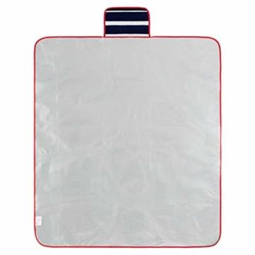 Yello Fleece faltbar Outdoor Picknickdecke Wasserdichte Unterseite–Blau gestreift - 4