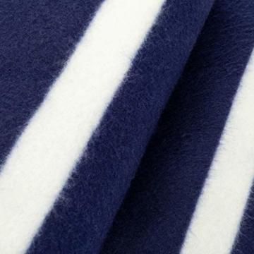 Yello Fleece faltbar Outdoor Picknickdecke Wasserdichte Unterseite–Blau gestreift - 6