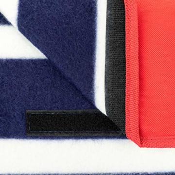 Yello Fleece faltbar Outdoor Picknickdecke Wasserdichte Unterseite–Blau gestreift - 7