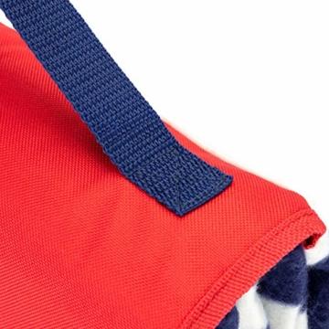 Yello Fleece faltbar Outdoor Picknickdecke Wasserdichte Unterseite–Blau gestreift - 8