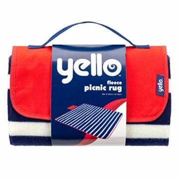 Yello Fleece faltbar Outdoor Picknickdecke Wasserdichte Unterseite–Blau gestreift - 10