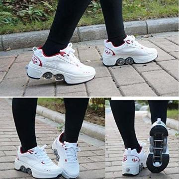 YXRPK Schuhe Skate Rädern Deformation Sportschuhe 2 in 1 Multifunktions 4 Rad Verstellbare Rollschuhe, Kann Fitness Sein, Sehr Stabil Und Leicht Zu Erlernen,33 - 4