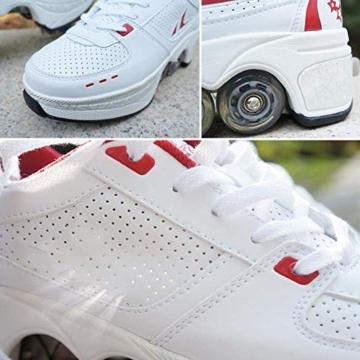 YXRPK Schuhe Skate Rädern Deformation Sportschuhe 2 in 1 Multifunktions 4 Rad Verstellbare Rollschuhe, Kann Fitness Sein, Sehr Stabil Und Leicht Zu Erlernen,33 - 5