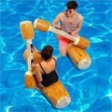2 Stück gesetzte aufblasbare Schwimm Reihe Spielwaren, Erwachsene Kinder-Pool-Party Wassersportspiele Lügen Flöße Float Spielzeug - 1