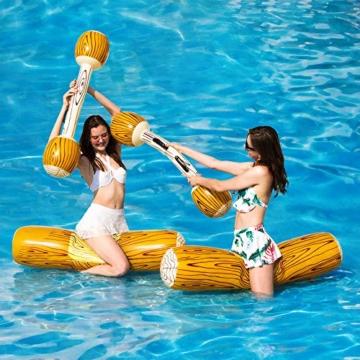 2 Stück gesetzte aufblasbare Schwimm Reihe Spielwaren, Erwachsene Kinder-Pool-Party Wassersportspiele Lügen Flöße Float Spielzeug - 4